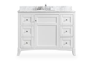 white bathroom vanity 48-inch bathroom vanities VWDEITZ
