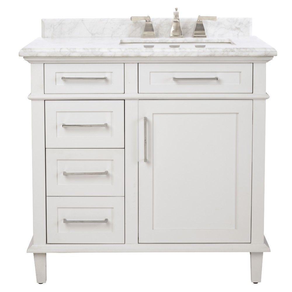 white bathroom vanity sonoma ... IJNLQRM
