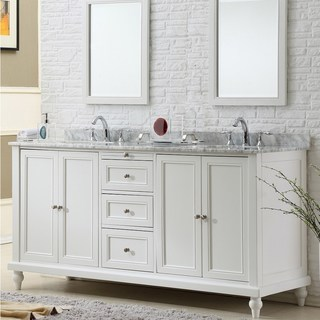 white bathroom vanity vanity sink 70-inch classic pearl white double vanity sink cabinet (more UJKVGTL