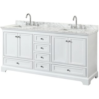 white bathroom vanity wyndham collection deborah 72-inch double bathroom vanity with no mirror WTWVZXL