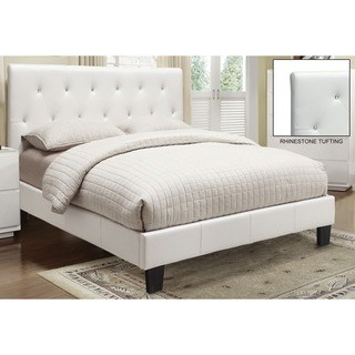 white beds clay alder home university faux leather rhinestone tufted platform bed (2 UMWJPJA