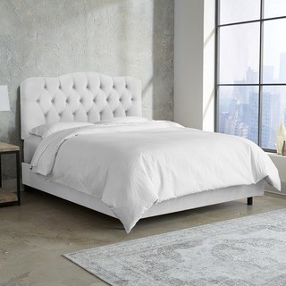 white beds skyline furniture white velvet tufted bed (5 options available) XVNMPZG