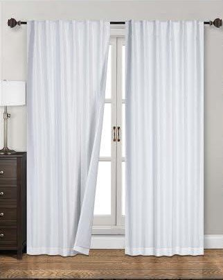white blackout curtains amazon.com: siena home fashions midnight blackout curtain (55 GLQKZTF