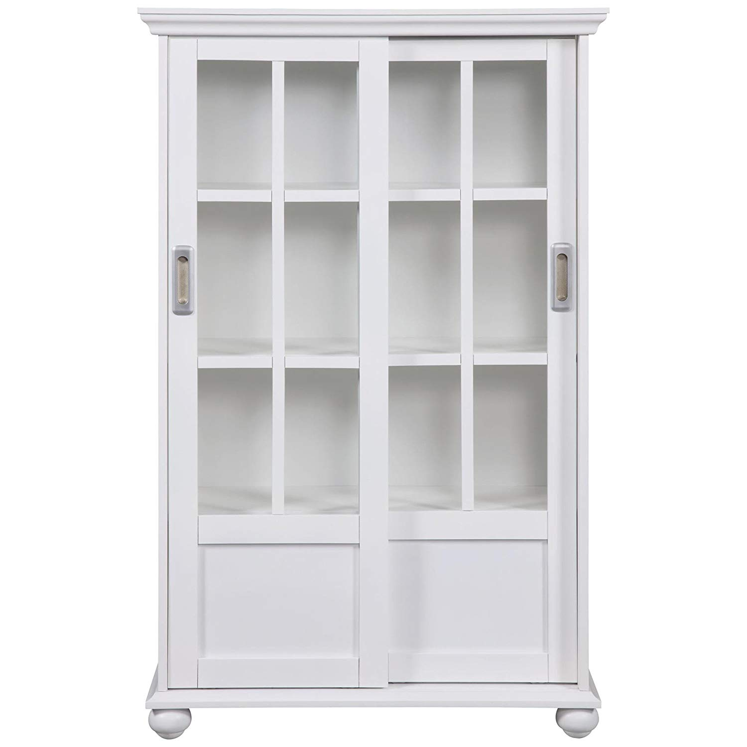 white bookcases amazon.com: altra 9448096 bookcase with sliding glass doors, white: kitchen XSZRXNO