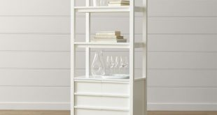white bookcases spotlight white bookcase + reviews | crate and barrel FCRJWBW