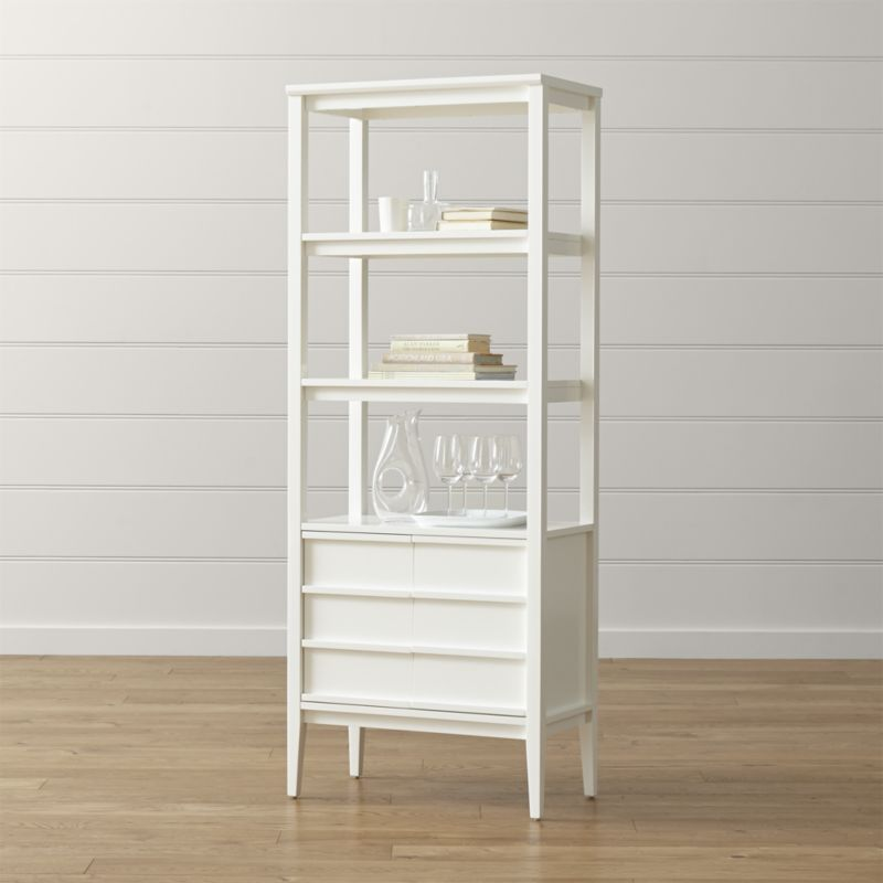 White Bookcases Offer Elegant Storage Option