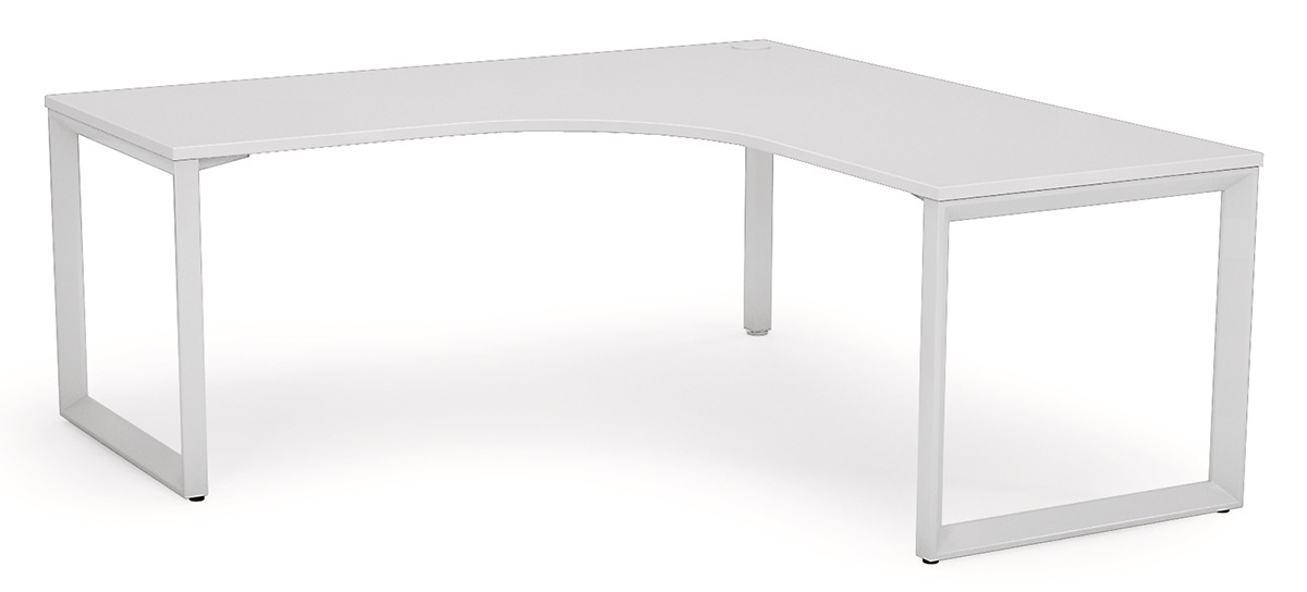 white corner desk anvil corner desk - 1800 x 1800 x 600 - white ZGULAHU