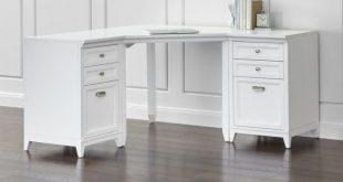 white corner desk each modular piece is crafted of hardwood and hardwood veneer with KVERMEB