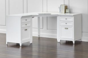 white corner desk each modular piece is crafted of hardwood and hardwood veneer with KVERMEB