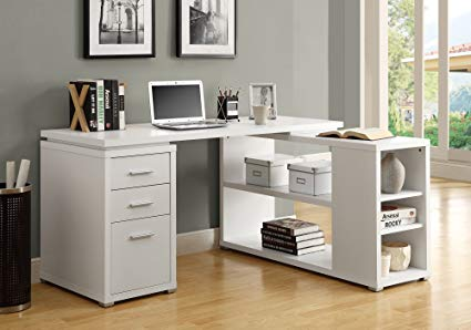 white corner desk monarch specialties hollow-core left or right facing corner desk, white JSQTDYJ