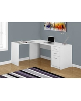 white corner desk monarch white wood/tempered glass corner computer desk (computer desk - white SLHEZPI