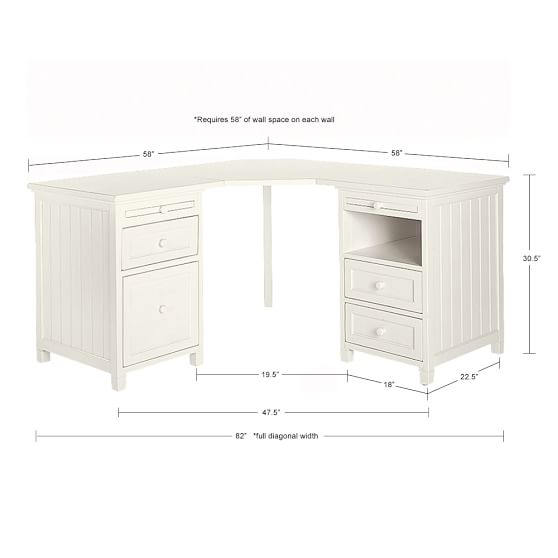 white corner desk scroll to next item JHBZPWO