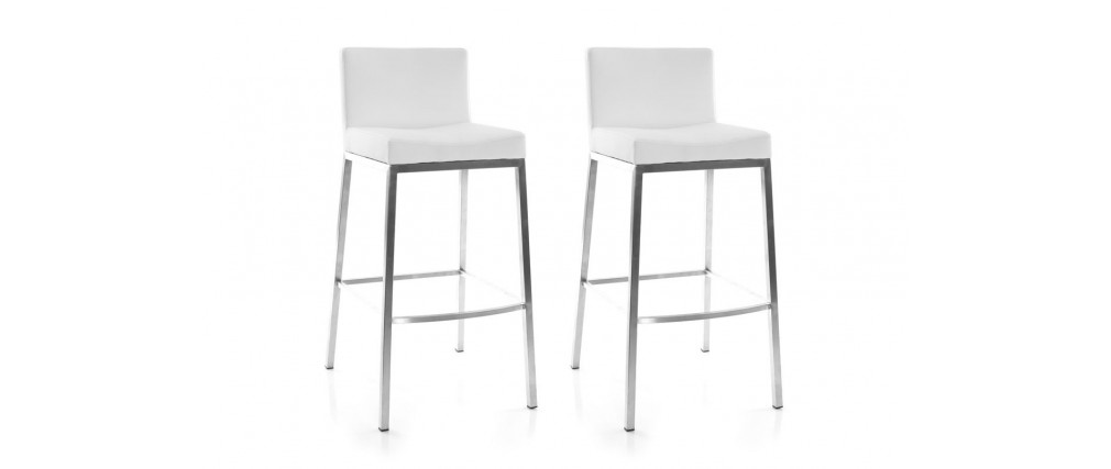 white modern bar stools epsilon (set of 2) OFOBOXL