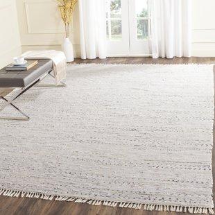 white rug penrock way handwoven cotton white area rug FVJZSJK
