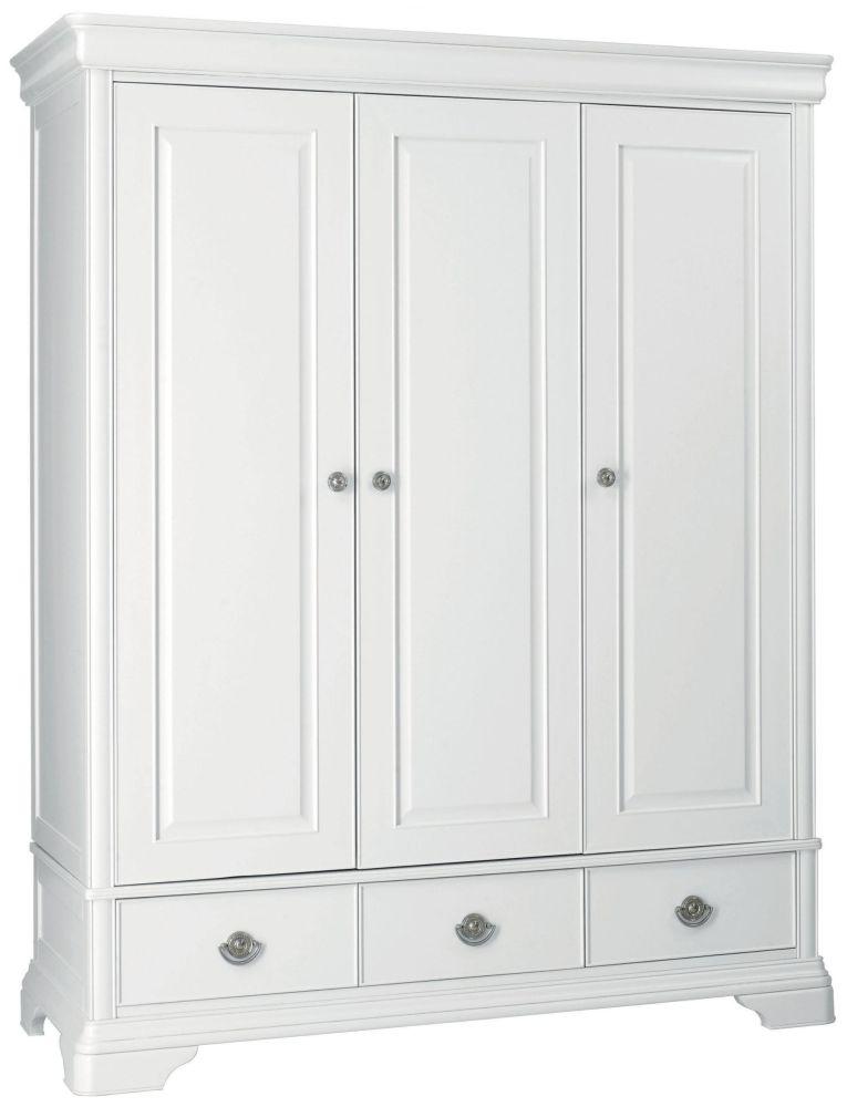 white wardrobes bentley designs chantilly white 3 door triple wardrobe ROCHPQD
