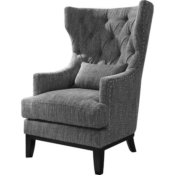 wing chair darby home co val wingback chair u0026 reviews   wayfair CSUUHRI