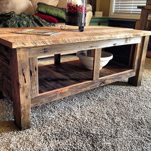 wood coffee table handcrafted from 100yr old barn wood. coffee table | reworkshop: EMTADKF