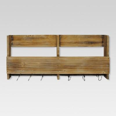 wood shelf wooden shelf with s hooks - threshold™ COIKNPY