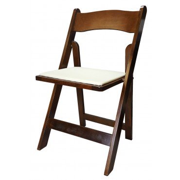 wooden folding chairs fruitwood wooden folding chair with padded seat OMAHJFU