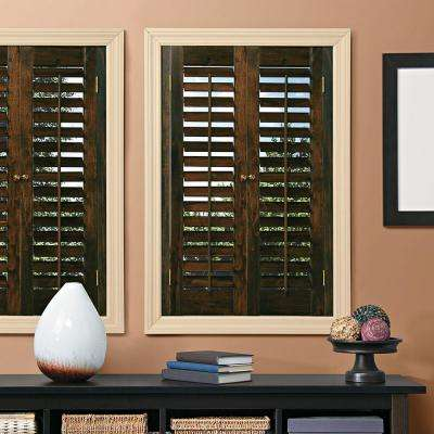 wooden shutters plantation walnut real wood interior shutter ... XJIQUNT