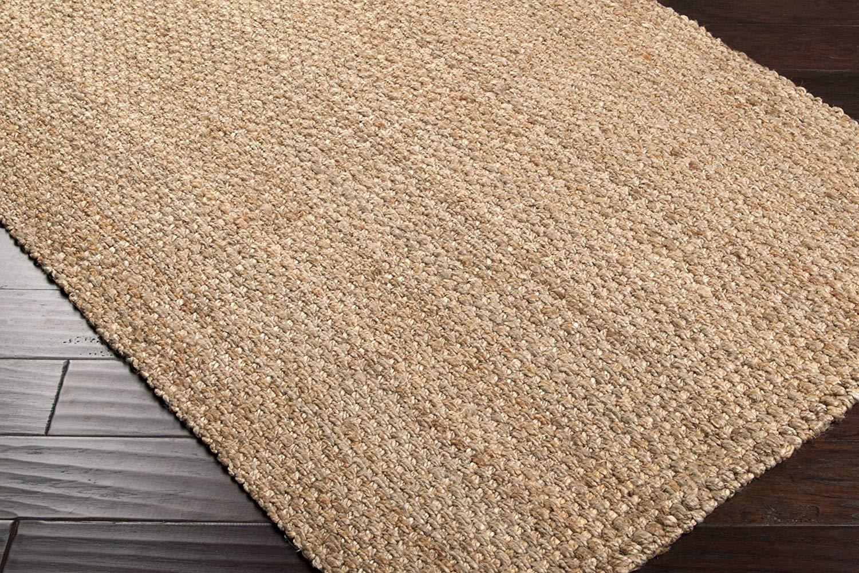 woven rugs amazon.com: surya jute woven js-2 natural fiber hand woven 100% natural LPHBTYR