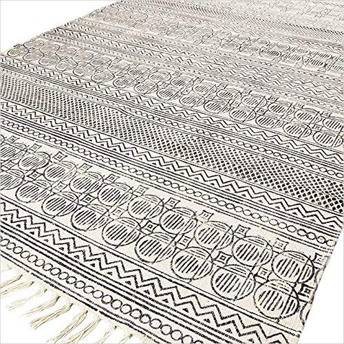 Decorate your room with woven rugs to get luxurious look