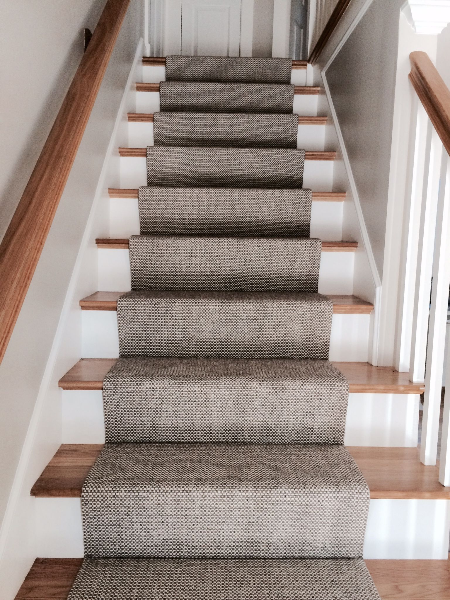 woven wool stair runner that we fabricated using a fold and RPZQBAD