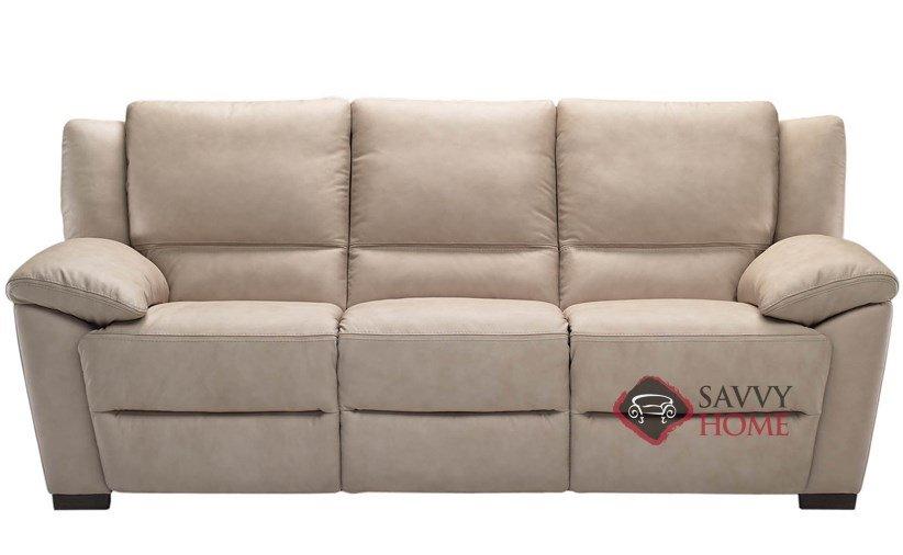 Genoa (A319) Leather Reclining Sofa by Natuzzi is Fully Customizable