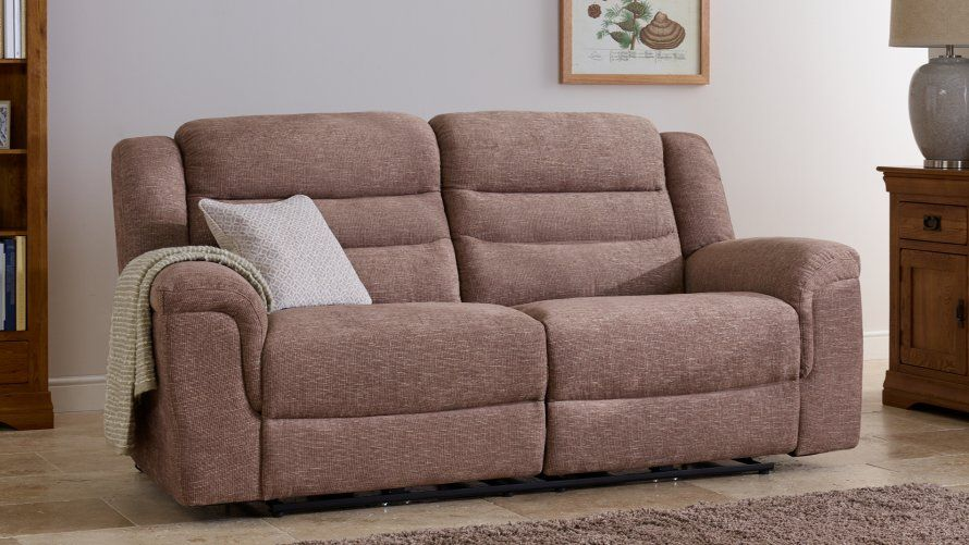Fabric Sofas   The Brody Range   3 Seater and 2 Seater Leather Sofas