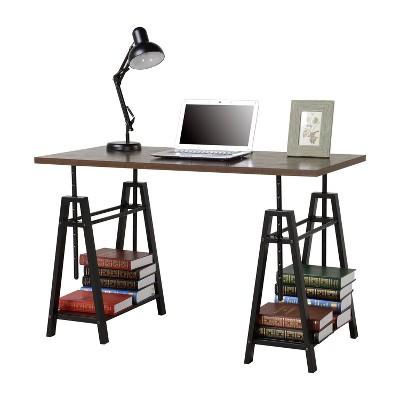 Adjustable Height Desk - Distressed Mocha - Homestar : Target
