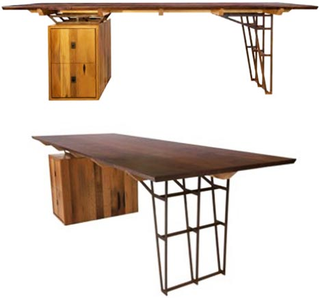 Vintage Lumber Recycled into New Wood Furniture Designs