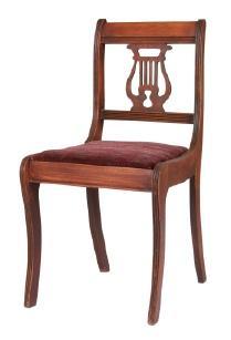 Antique lyre chair