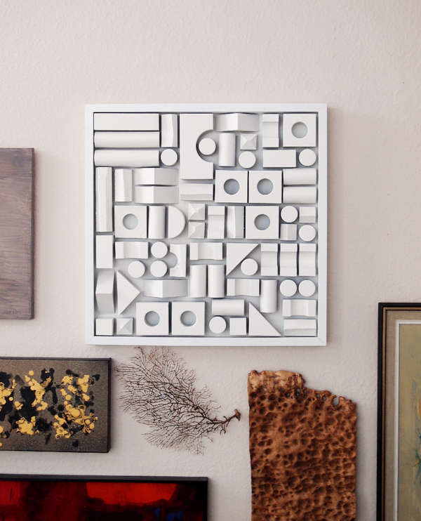 DIY Foam-Fitting Wall Decor : Foam Wall Art