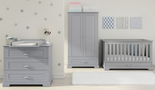Grey Baby Bedroom Furniture Design Ideas