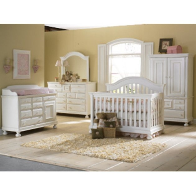 Creations Baby Summers Evening 4 in 1 Convertible Crib Collection - Rubbed  White - Nursery Furniture Sets at Cribs | Woodworking | Baby furniture,