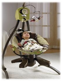 baby swing and baby bouncer in one..not the right colors but really cool