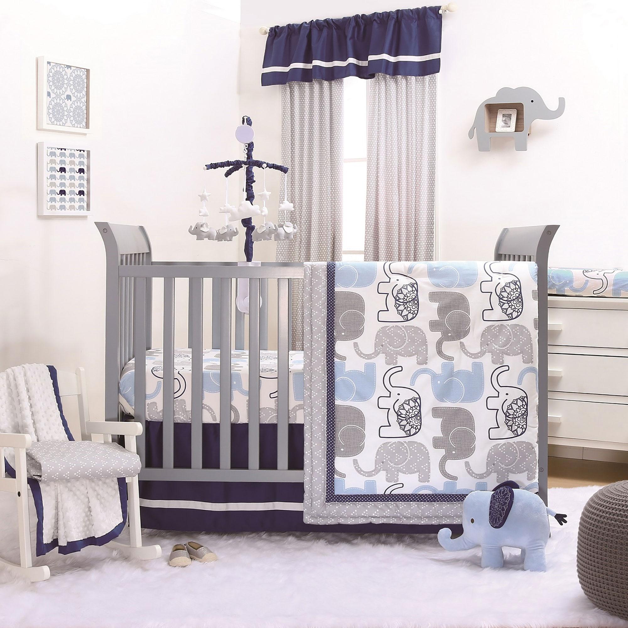 The Peanut Shell 3 Piece Baby Boy Crib Bedding Set - Little Peanut