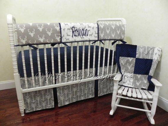 Baby Boy Bedding Set Rowan Boy Crib Bedding Crib Rail | Etsy