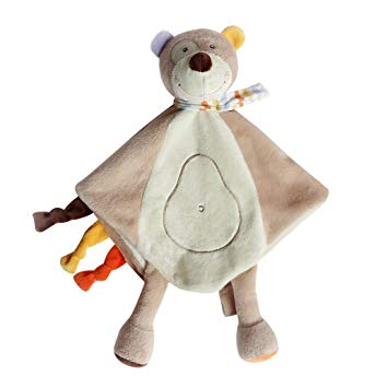Amazon.com: CC-US Baby Kids Soft Plush Security Blanket Cute Bear