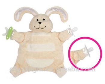 Baby Comforter Blanket Comfort Pacifier Soother Holder Soft Toy