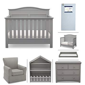 Amazon.com: Serta Barrett 7-Piece Nursery Furniture Set