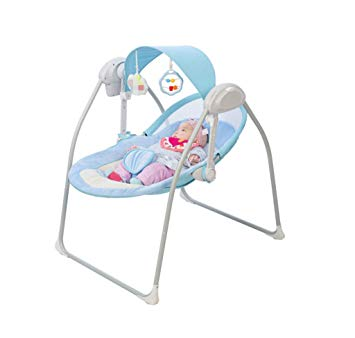 Electric Baby Cradle Bed - Automatic Baby Rocking Chair Bed, Music Remote  Control Bed Basket