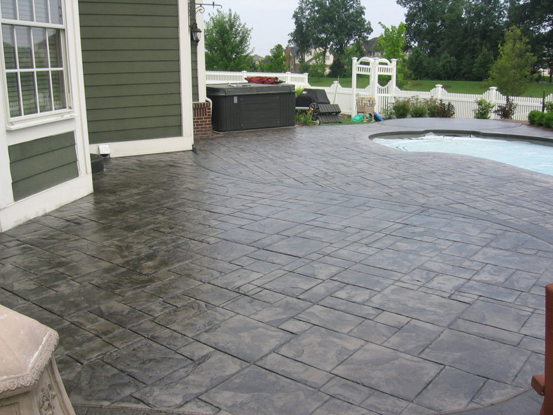 #22 Stamped Concrete Patio