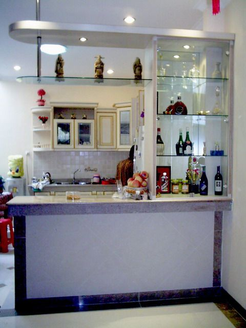 Bar Counter Design | Mini Bar Design Picture with a Simple Model and