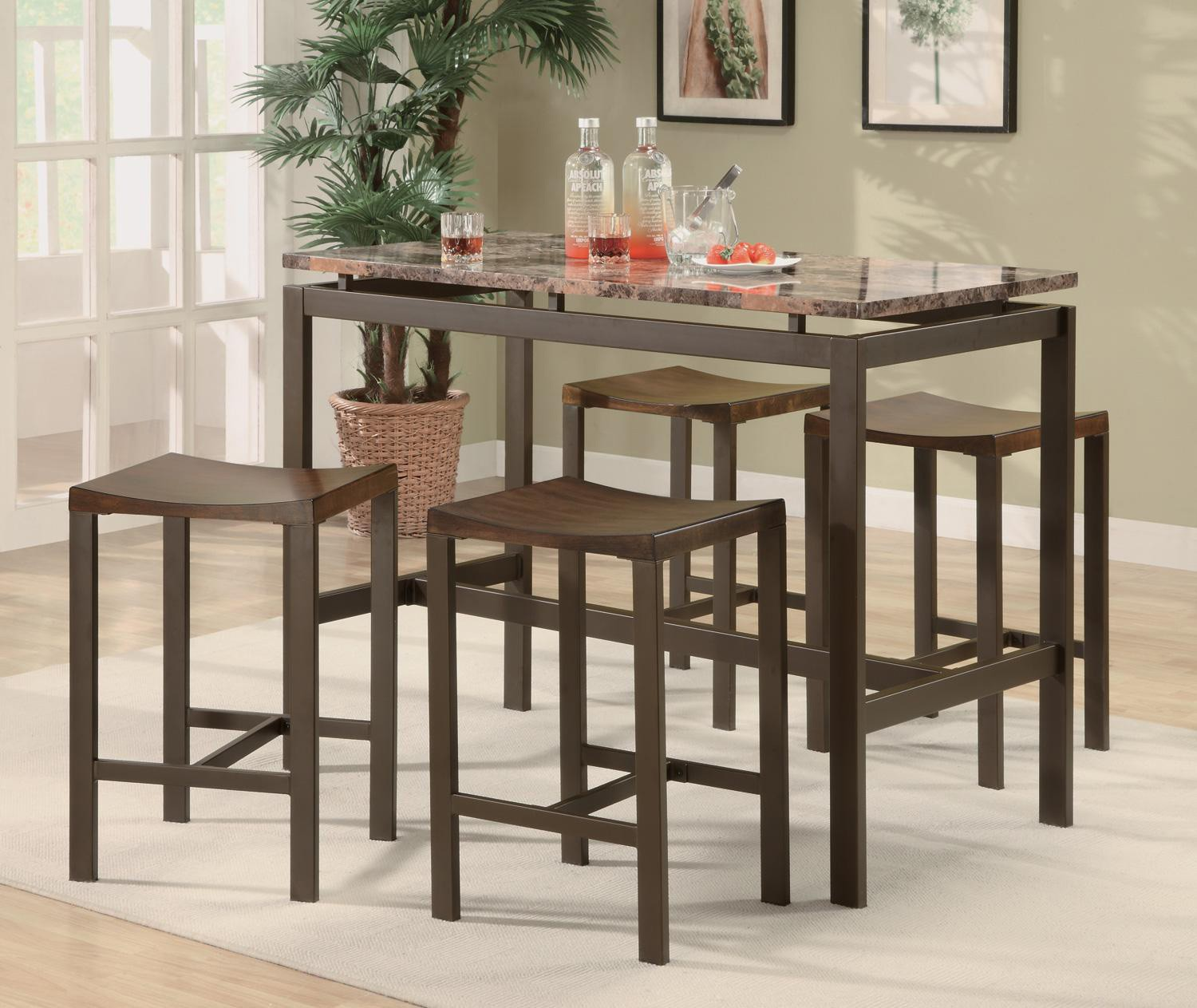 Pub Table And Stool Set