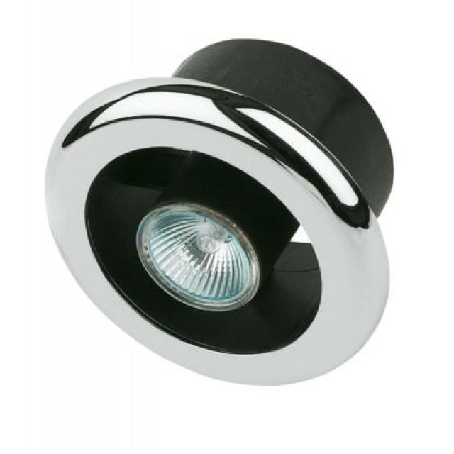 Manrose Shower Light & Extractor Fan Kit Chrome 100mm