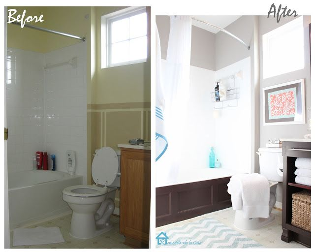 Small Bathroom Makeovers Before And After | Bathroom Re-do