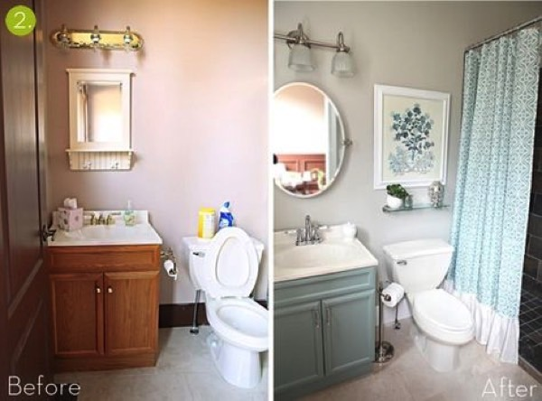 Bathroom Makeovers With : Bathroom Makeovers Before And After