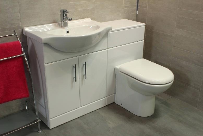 Bathroom Vanity Unit With Basin And Toilet Gravity Combination