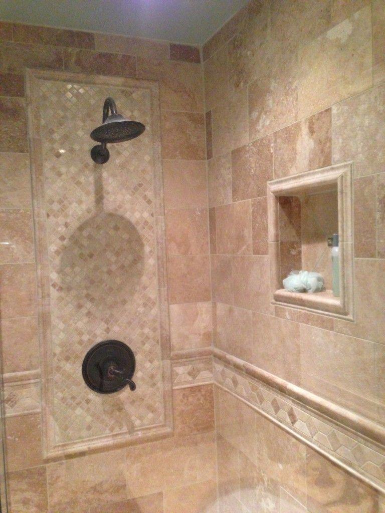 supreme shower tile design beige brick stone wall tile square throughout  tiled shower designs Tiled Shower Designs